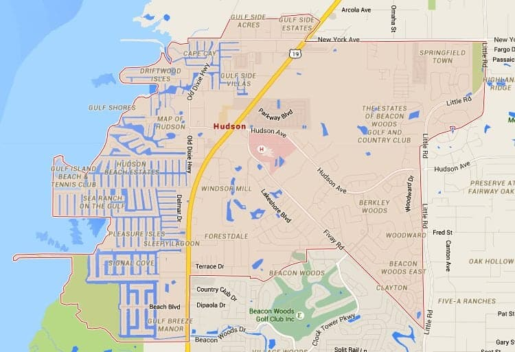 Hudson Florida Map.Hudson Homes For Sale Map Search Tampahomessold Com Tampahomessold Com