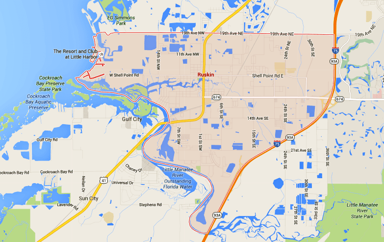 Ruskin Florida Map.Ruskin Homes For Sale Map Search Tampahomessold Com