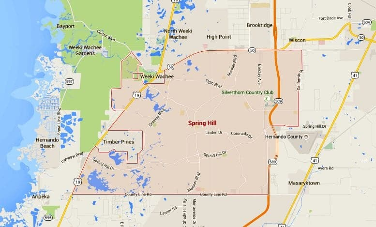 Map Of Spring Hill Florida.Spring Hill Homes For Sale Map Search Tampahomessold Com