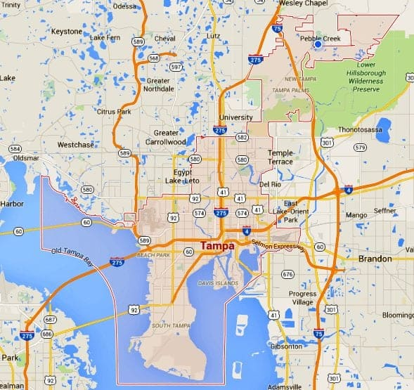 Tampa Homes For Sale Map Search