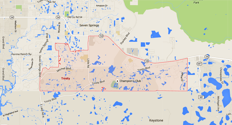 Trinity Florida Map.Trinity Homes For Sale Map Search Tampahomessold Com