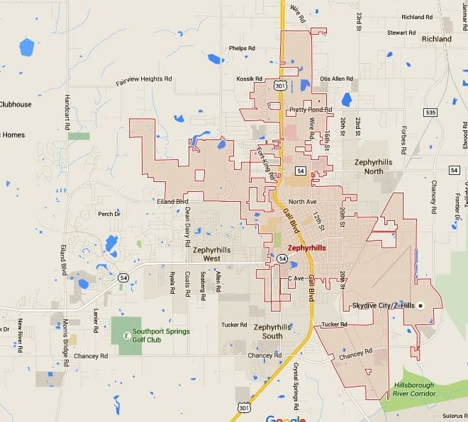 Zephyrhills Homes For Sale Map Search - TampaHomesSold.com ... on