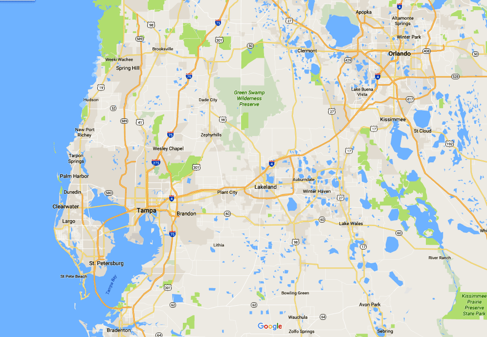 Areas that Nick & Cindy Davis Cover Around Tampa Bay