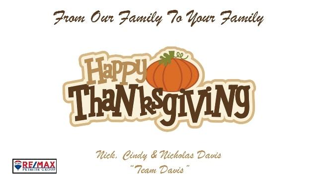Thanksgiving Team Davis